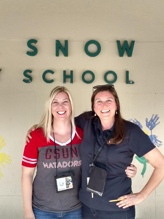 Two of our very own Snow teachers  Chloe Faris from room 11 and Jessica Moutner  from room 2 have been nominated as teacher of the Tear! Congrats!